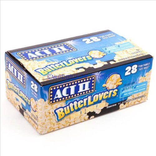 Act Ii Butter Lovers 28-2.75Oz Fun Family Size Bags