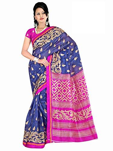 Winza party wear bhagalpuri print cotton silk sarees for women ladies girls
