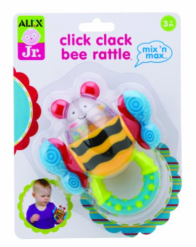 ALEX Toys ALEX Jr. Click Clack Bee Rattle - 1