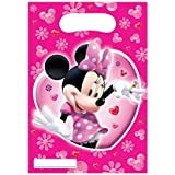 Minnie Mouse Pink Shaped Birthday Party Invitations x 6