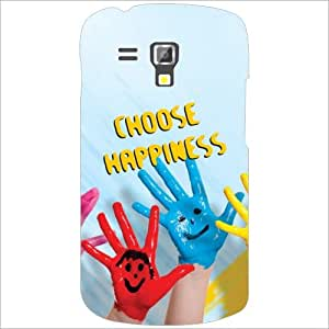 Samsung Galaxy S Duos 7582 Back Cover - Choose Happiness Desiner Cases