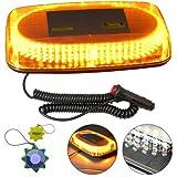 HQRP Strobe Amber 240-LED Emergency Hazard Warning LED Mini Bar Strobe Light w/ Magnetic Base for Car Trailer RV Caravan Boat plus HQRP UV Meter