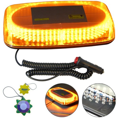 Hqrp Strobe Amber 240-Led Emergency Hazard Warning Led Mini Bar Strobe Light W/ Magnetic Base For Car Trailer Rv Caravan Boat Plus Hqrp Uv Meter