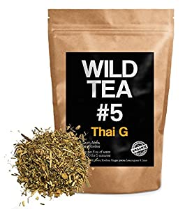 Organic Rooibos Tea with Ginger, Lemongrass and Lime, Wild Tea #5 Loose Leaf Rooibos Tea by Wild Foods