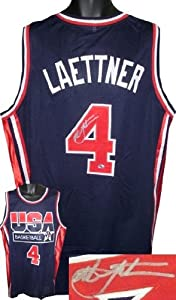 Christian Laettner Autographed Hand Signed 1992 Team USA Olympic Dream Team Blue... by Hall of Fame Memorabilia