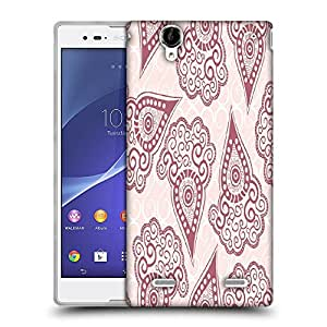 Snoogg Maroon Pattern Designer Protective Phone Back Case Cover For Sony Xperia T2 Ultra
