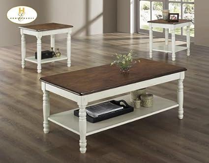 Ohana 3 Piece Coffee Table Set Finish: Antique White