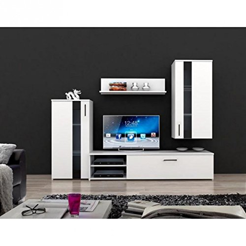 CRUNCH conjunto TV 213 x 184 cm, color blanco