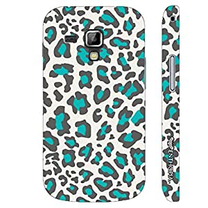 Samsung Galaxy Duos 7562 White & Blue Cheetah designer mobile hard shell case by Enthopia