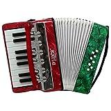 D'Luca G104-MX-PL Kids Piano Accordion 17 Keys 8 Bass RWG Perloid