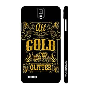 Infocus M330 Gold does not glitter designer mobile hard shell case by Enthopia