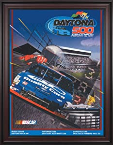 NASCAR Framed 36 x 48 Daytona 500 Program Print Race Year: 39th Annual - 1997 by Mounted Memories