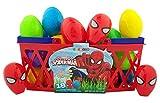 Pack of 18 Marvel Superhero Ultimate Spiderman Candy Filled Eggs for Easter Basket