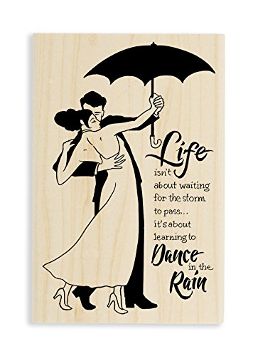 Stampendous Rain Dance Rubber Stamp