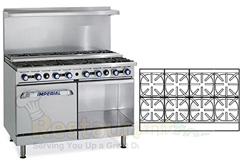 Imperial-Commercial-Restaurant-Range-48-Step-Up-8-Burner-1-OvenCabinet-Nat-Gas-Ir-8-Su-Xb