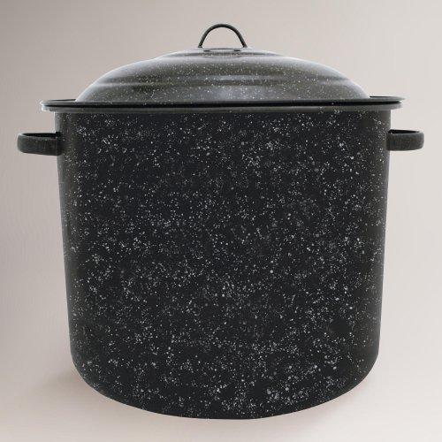 Granite Ware 6139-1, 34-Quart Stock Pot, Black (Large Black Cooking Pot compare prices)