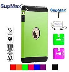 buy Ipad Mini Case,Ipad Mini 2/3 Case,Supmax™ *Armor Defender* *Tpu+Pc* High Impact Resistant Dual Layer Dirtproof Scratchproof Shockproof Skidproof [Gifts] For Apple Ipad Mini 1/2/3 (Green)