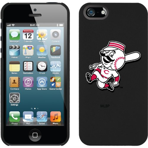 Great Sale Cincinnati Reds - Mascot design on a Black iPhone 5s / 5 Thinshield Snap-On Case by Coveroo