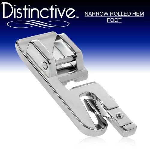 Purchase Distinctive Narrow Rolled Hem Sewing Machine Presser Foot - Fits All Low Shank Snap-On Sing...