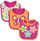 Lamaze Baby-Girls Newborn 3 Pack Floral Interlock Bib