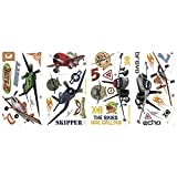 Roommates Rmk2140Scs Planes Peel And Stick Wall Decals, 1-Pack