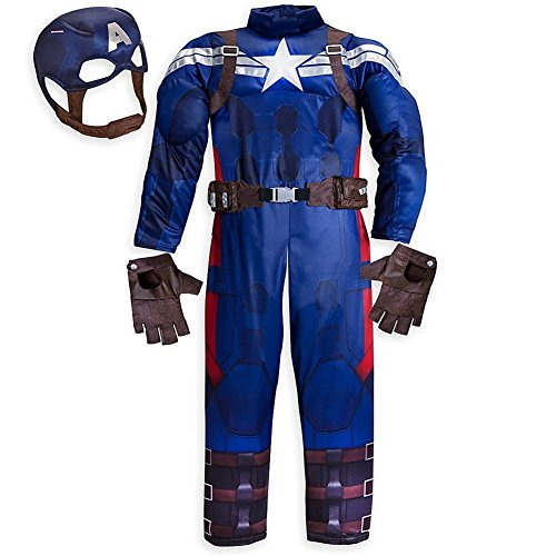 Disney Store Captain America The Winter Soldier Muscle Halloween Costume Size 2 2T