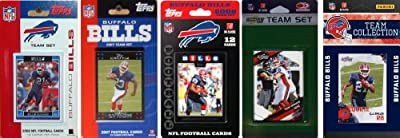 NFL Buffalo Bills 5 Different Licensed Trading Card Team Sets