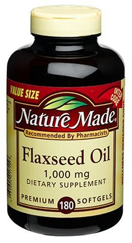 Nature Made Flaxseed Oil 1000mg, 180 Softgels