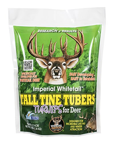Whitetail Institute Imperial Tall Tine Tubers Food Plot Seed (Fall Planting), 3-Pound (.5 acres) (Imperial Food Plot Seed compare prices)