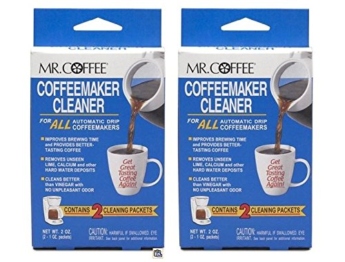 Mr Coffee Coffeemaker Cleaner : Mr. Coffee Coffeemaker Cleaner For All Automatic Drip Units, 2 Packets Set of 2 (Total 4 ...