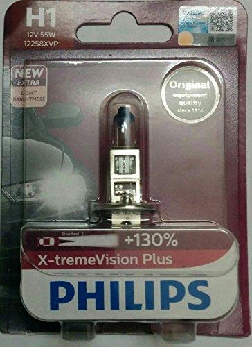 Philips H1 Halogen X-treme Vision Plus 12972XVPB1 Headlight Bulb (12V, 55W)