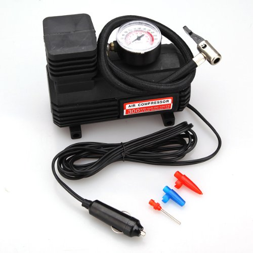 Dc 12V Car Auto Electric Pump Air Compressor Tire Inflator Tool Portable 300 Psi