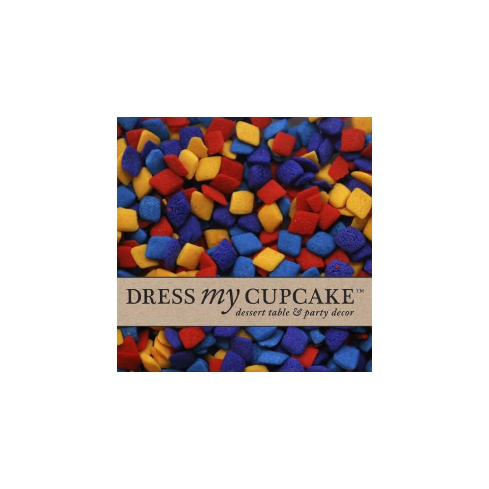 Dress My Cupcake DMC27382 Decorating Edible Cake and Cookie Confetti Sprinkles Bulk, Multi Colored Diamonds, 5 Pound