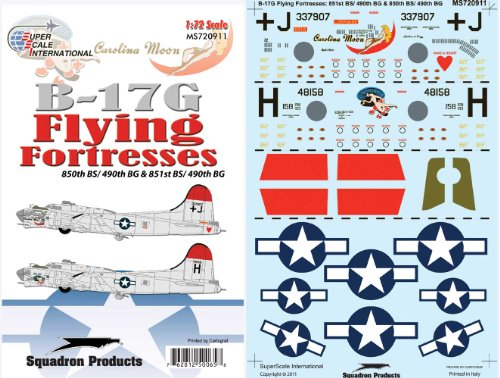 B-17 G Flying Fortress: 409, 490 BG (1/72 decals, Superscale 720911)