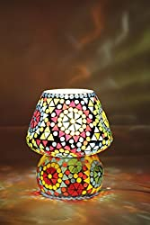 Table lamp Tiffany (Glitz), Hand made Table lamp, Ethnic Style (Multicolor)