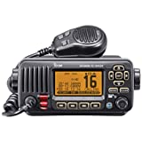 ICOM IC-M424 01 Compact Marine VHF Radio with Hailer, Black