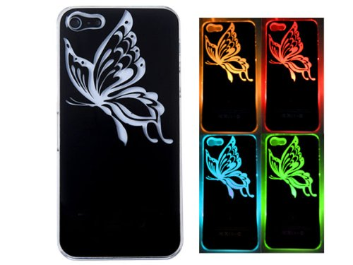 Flash Light Led Color Changing Luxury Fancy Case Cover For Iphone 5 Butterfly