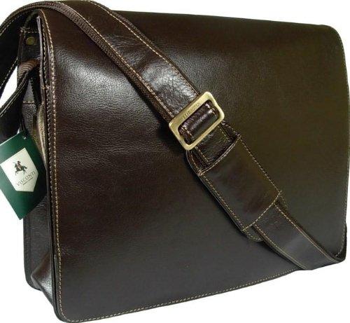 4c0900bdf2d9 Women Bags: New Visconti mocha brown leather briefcase messenger man ...