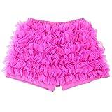 Wennikids - Pantalón corto - para niña Rosa hot pink