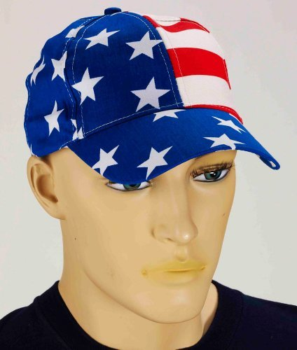 U.S. United States American Patriot Cap Halloween Costume Accessory Hat 68011