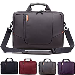 BRINCH(TM) 14 inch New Soft Nylon Waterproof Laptop Computer Case Cover Sleeve Shoulder Strap Bag with Side Pockets Handles and Detachable for Laptop / Notebook / NetBook / Chromebook (Asus/DELL/HP/Samsung...) ,Colour Brown