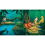 RoomMates JL1253M Disney Lion King Chair Rail Prepasted Mural with  6-Feet by 10.5-Feet Ultrastrippable Reviews
