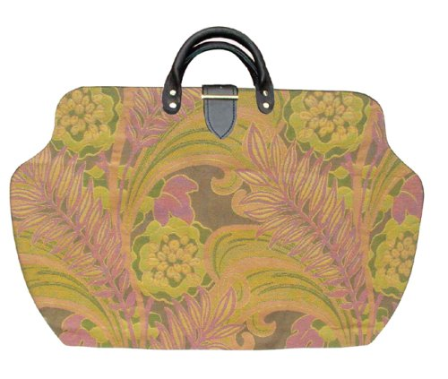 ArtisanStreet's Sorta, Kinda Like a Lily Pulitzer Carpet Bag with Shoulder Strap. Reminiscent of a Lily Pulitzer Design. Bag Features Tightly Woven Tapestry Fabric. Limited Edition. Use as an Overnight Bag or Even as a Briefcase.