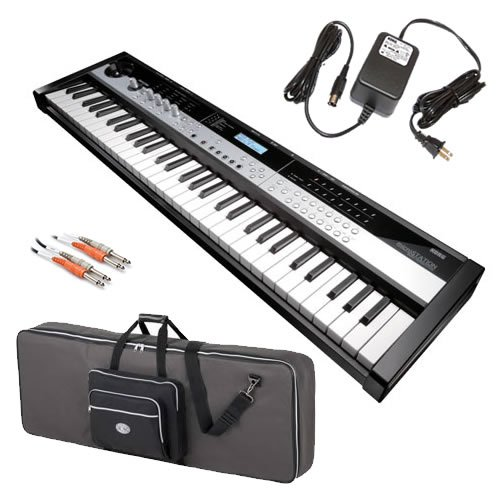 Korg microSTATION Synth STAGE BUNDLE w/ Carrying Case & Cable
