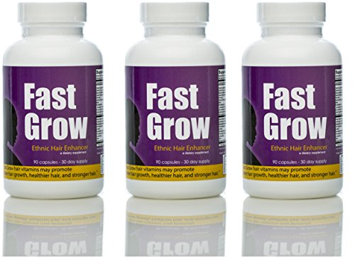 Fast Grow African American Hair Vitamins For Fast Hair Growth 3 Month Supply