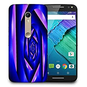 Snoogg Abstract Blue Cylone Pattern Printed Protective Phone Back Case Cover For Motorola X Style