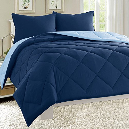 Check Out This Dayton 3-Piece Reversible Comforter Set Down Alternative Solid Quilted Bed Cover (Twi...