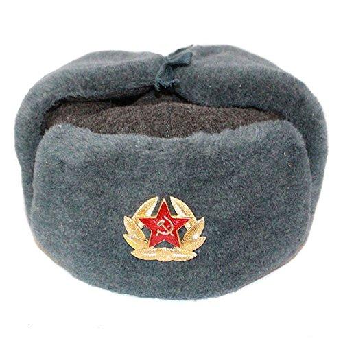 COLBACCO LANA IN DOTAZIONE ESERCITO RUSSO ORIGINAL SOVIET USHANKA - Taglia disponibile: 56-57 (M)