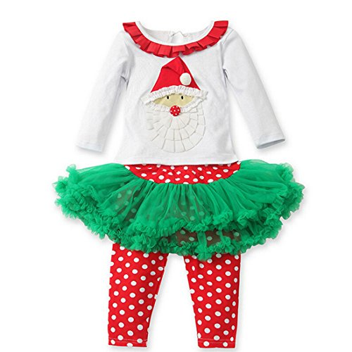 Happy Cherry Baby Kid Child Toddler Little Girl Cute Christmas Suit Outfits Skirt