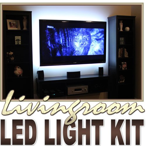 Floating Wall TV with LED Lights